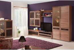 Модульная гостиная мебель Парма Люкс (цвет ясень шимо)
