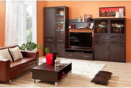 Модульная гостиная мебель Парма Люкс (цвет венге)
