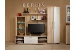 Стенка для гостиной Berlin (белый глянец)
